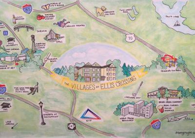 Drucker & Falk - Villages | Illustration - Caryn Sterling | Drawing Insight